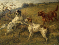 Art Prints of Setters and Pointer in a Landscape by Edmund Henry Osthaus