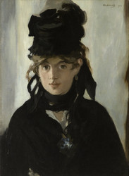 Art Prints of Berthe Morisot with a Bouquet of Violets by Edouard Manet