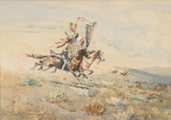 Art Prints of Charging Indians by Edward Borein