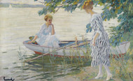 Art Prints of On the Shore by Edward Cucuel