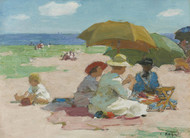 Art Prints of At the Beach by Edward Henry Potthast