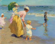 Art Prints of Woman and Children at the Shore by Edward Henry Potthast