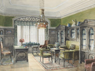 Art Prints of Library Interior by Edward Lamson Henry