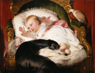 Art Prints of Victoria Princess Royal with Eos by Edwin Henry Landseer