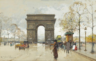 Art Prints of Arc de Triomphe by Eugene Galien-Laloue