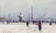 Art Prints of Paris Concorde in the Snow by Eugene Galien-Laloue