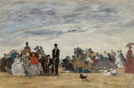 Art Prints of The Beach at Trouville by Eugene Boudin