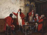 Art Prints of Huntsmen Recounting a Fall by Frank Moss Bennett