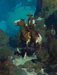 Art Prints of Night Herders by Frank Tenney Johnson