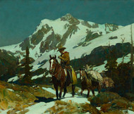 Art Prints of Return from the Hunt by Frank Tenney Johnson