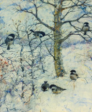 Art Prints of Chickadees in Winter by Frank Weston Benson