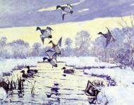 Art Prints of Cold Sunset by Frank Weston Benson