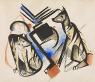 Art Prints of Two Wolves by Franz Marc