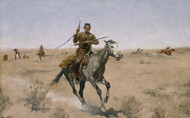 Art Prints of The Flight by Frederic Remington