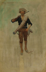 Art Prints of There Will Be a Hot Time in the Old Town by Frederic Remington