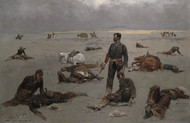 Art Prints of What An Unbranded Cow Has Cost by Frederic Remington