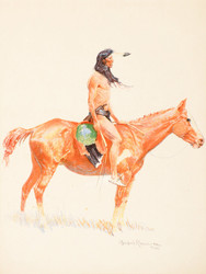 Art Prints of A Cheyenne Buck by Frederic Remington