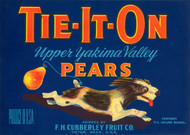 013 Tie-It-On Pears, Fruit Crate Labels
