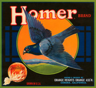Art Prints of 008 Homer Brand, Fruit Crate Labels