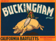 Art Prints of 014 Buckingham California Bartletts, Fruit Crate Labels