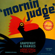 Art Prints of 024 'Mornin Judge' Grapefruit and Oranges, Fruit Crate Labels