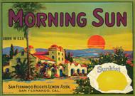 Art Prints of 043 Morning Sun Lemons, Fruit Crate Labels