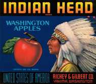 Art Prints of 049 Indian Head Washington Apples, Fruit Crate Labels