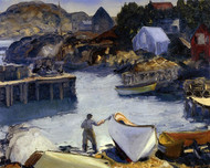 Art Prints of |Art Prints of Cleaning his Lobster Boat by George Bellows