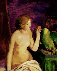 Art Prints of |Art Prints of Nude with Parrot by George Bellows