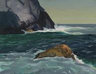 Art Prints of |Art Prints of Sun, Shadows, Rocks at Monhegan by George Bellows