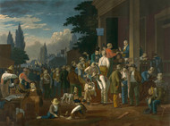 Art Prints of The County Election, 1852 by George Caleb Bingham
