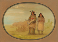 Art Prints of Riccarree Chief and His Wife by George Catlin