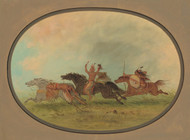 Art Prints of The Scalped Pawnees and Cheyennes by George Catlin