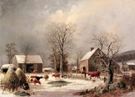 Art Prints of Farmyard in Winter by George Henry Durrie