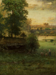 Art Prints of Scene at Durham by George Inness