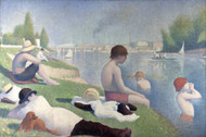 Art Prints of Bathers at Asnieres by Georges Seurat