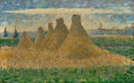 Art Prints of Haystacks, 1882 by Georges Seurat
