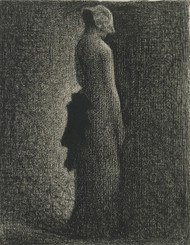 Art Prints of The Black Bow by Georges Seurat