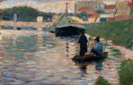 Art Prints of View of the Seine by Georges Seurat