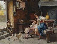 Art Prints of Feeding the Chicks by Giuseppe Magni