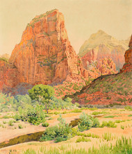Art Prints of Bright Angel Landing, Zion National Park by Gunnar Widforss