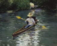 Art Prints of Canoe on the Yerres River by Gustave Caillebotte