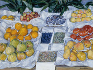 Art Prints of Displayed Fruit on a Stand by Gustave Caillebotte