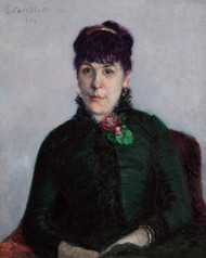 Art Prints of The Woman of the Rose by Gustave Caillebotte