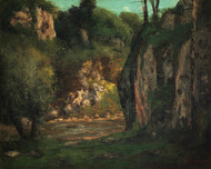 Art Prints of The Hidden Brook by Gustave Courbet