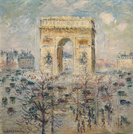 Art Prints of Arch of Triumph on the Star Place Square, Paris by Gustave Loiseau