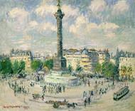Art Prints of La Place de la Bastille by Gustave Loiseau