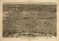 Art Prints of Bird's Eye View of Philadelphia by Harper and Brothers