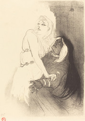 Art Prints of At the Renaissance, Sarah Bernhardt by Henri de Toulouse-Lautrec