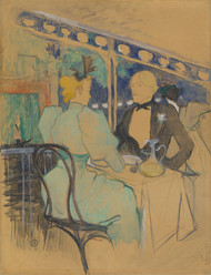 Art Prints of Fashionable People at Les Ambassadeurs by Henri de Toulouse-Lautrec